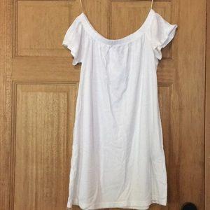 Off shoulder t-shirt dress